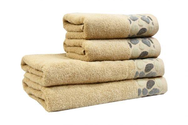 купить Махровое полотенце Gravel бежевое Турция (IZ-2200000546074-v)