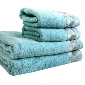 Махровое полотенце Gravel голубое