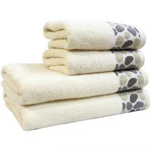 Махровое полотенце Gravel кремовое