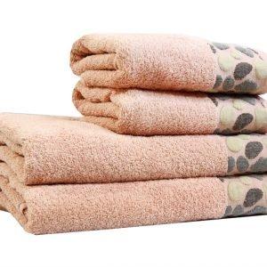 Махровое полотенце Gravel розовое