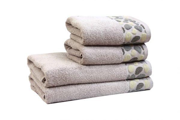 Махровое полотенце Gravel сиреневое