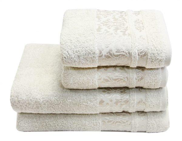 купить Махровое полотенце Lale крем Турция (IZ-2200000546142-v)