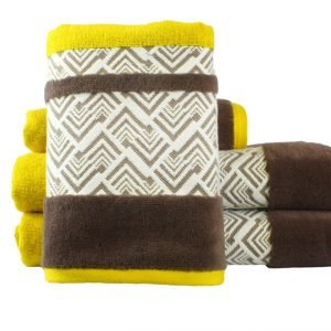 Махровое полотенце NAZENDE желтое