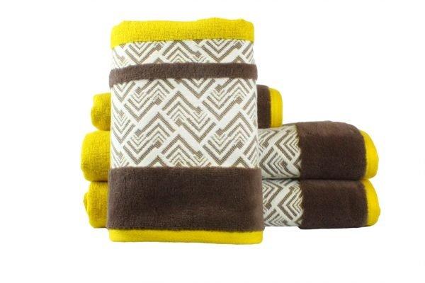 купить Махровое полотенце NAZENDE желтое Турция (IZ-8698499313750-v)