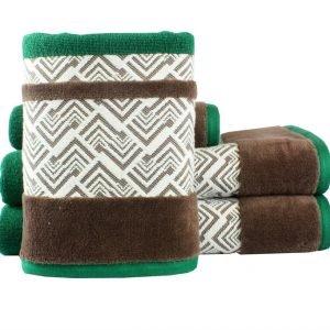 Махровое полотенце NAZENDE зеленое