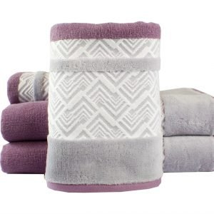 Махровое полотенце NAZENDE лиловое