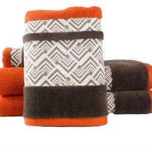 Махровое полотенце NAZENDE оранжевое