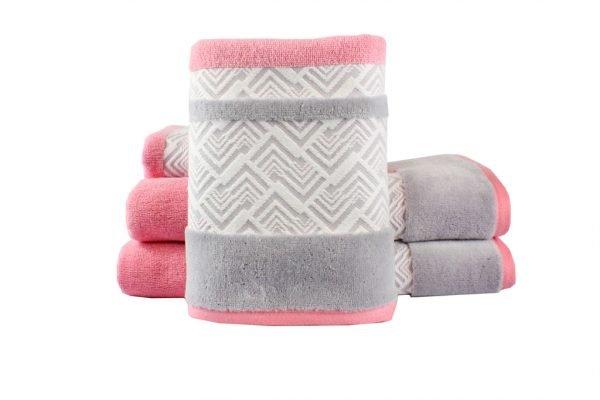 купить Махровое полотенце NAZENDE розовое Турция (IZ-8698499313835-v)