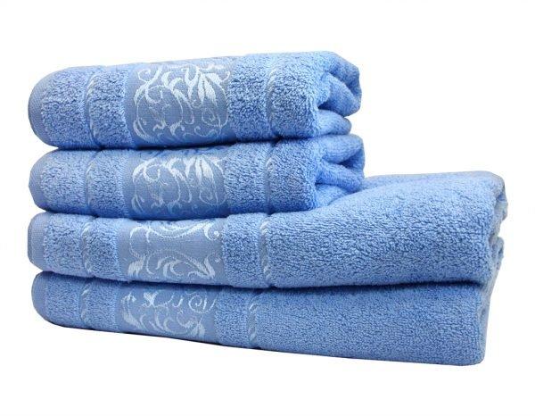 купить Махровое полотенце Ottoman голубое Турция (IZ-2200000544698-v)