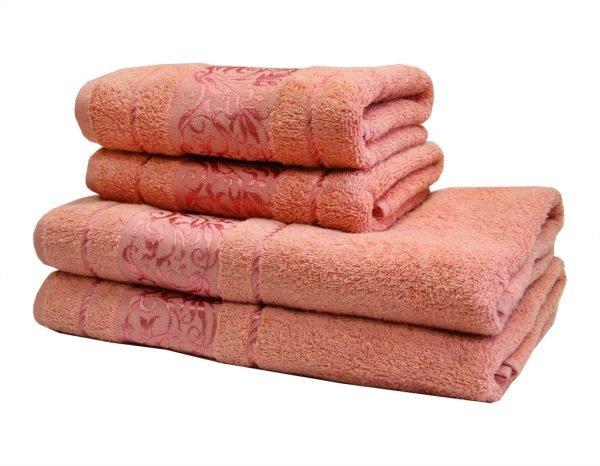 купить Махровое полотенце Ottoman розовое Турция (IZ-2200000544681-v)