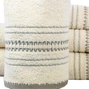 Махровое полотенце Pacific 50×90см бежевое