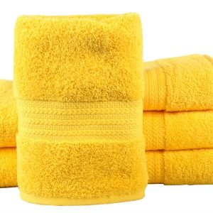 Махровое полотенце RAINBOW желтое