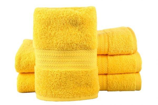 купить Махровое полотенце RAINBOW желтое Турция (IZ-8698499302785-v)