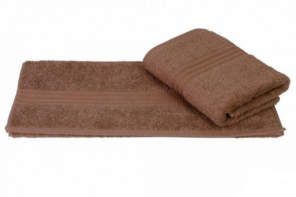 купить Махровое полотенце RAINBOW коричневое Турция (IZ-8698499302617-v)