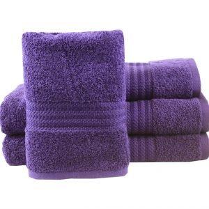 купить Махровое полотенце RAINBOW фиолетовое Турция (IZ-8698499302839-v)