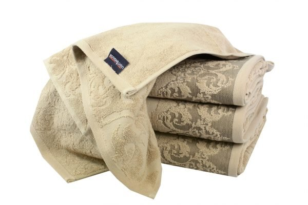 Махровое полотенце Supreme бежевое