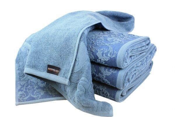 купить Махровое полотенце Supreme синее Турция (IZ-2200000037756-v)