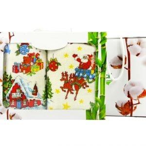 Набор кухонных полотенец  Новое Год №1 40×60 (2 шт)см