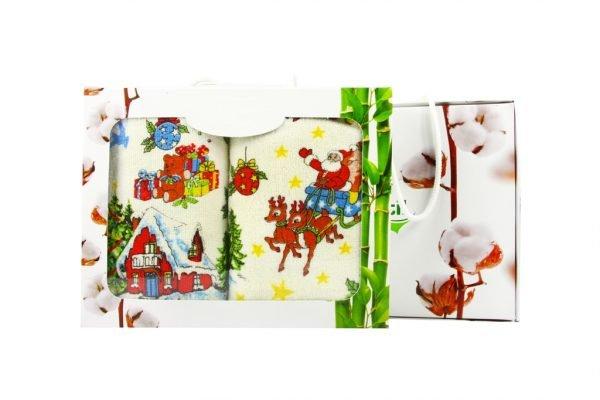 купить Набор кухонных полотенец  Новое Год №1 40x60 (2 шт)см Турция (IZ-2200000544124)