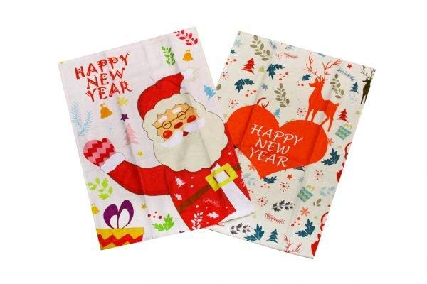 купить Набор кухонных полотенец  New Year V3 40x60 (2 шт)см Турция (IZ-8698499320857)