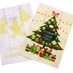 купить Набор кухонных полотенец  New Year V7 40x60 (2 шт)см Турция (IZ-8698499320918)
