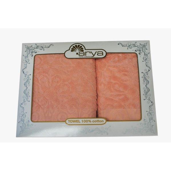 купить Набор полотенец ТМ Arya Жаккард 2 шт. Aiko розовый Турция (TRK111000022250)