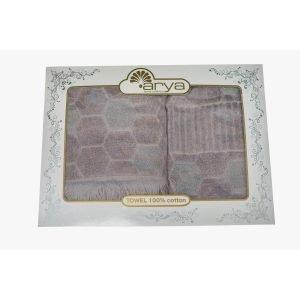 Набор полотенец ТМ Arya Жаккард 50×90-70×140 2 шт. Frew Серый 50×90|70×140
