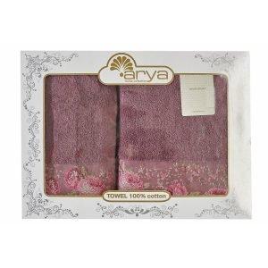 купить Набор полотенец ТМ Arya 2 шт. 50x90+70x140 Desima лиловый Турция (TRK111000021770-1)