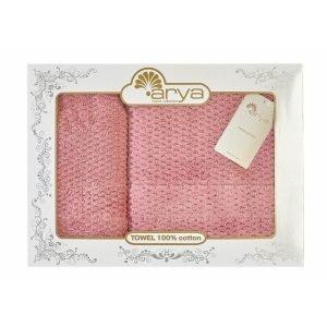 купить Набор полотенец ТМ Arya 2 шт. Arno розовый Турция (TRK111000021788-4)