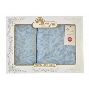 Набор полотенец ТМ Arya 50×90-70×140 2 шт. Zoey голубой 50×90|70×140