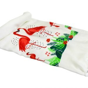 Пляжное полотенце Bamboo Peshtemal Flamingo 90×180см