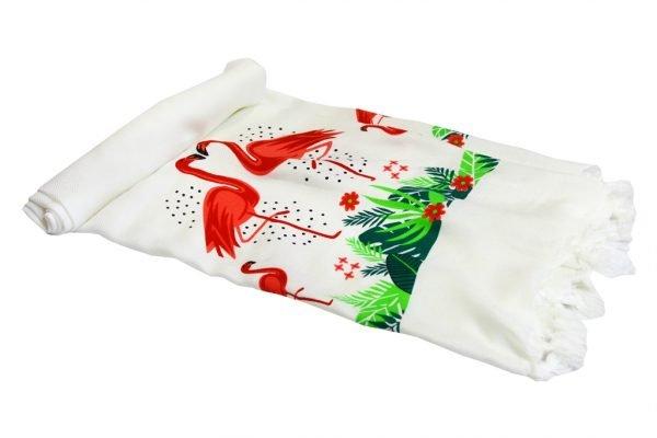 купить Пляжное полотенце Bamboo Peshtemal Flamingo 90x180см Турция (IZ-2200000547965)