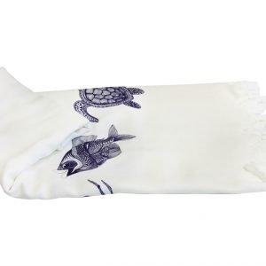 купить Пляжное полотенце Bamboo Peshtemal Sea Creatures 90x180см Турция (IZ-2200000548009)
