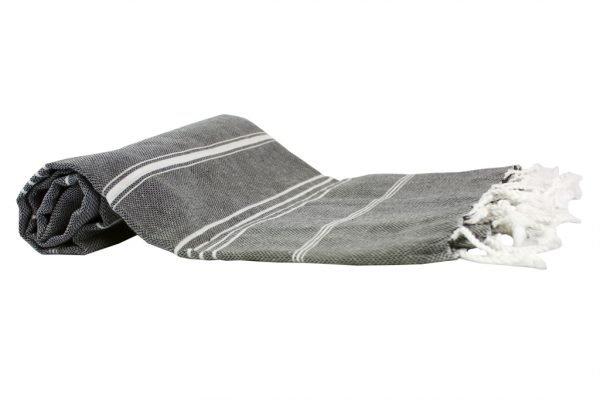 Пляжное полотенце Cross Peshtemal №52/16 95×175см серое