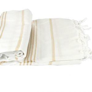 Пляжное полотенце Cross Peshtemal №63 95×175см кремовое