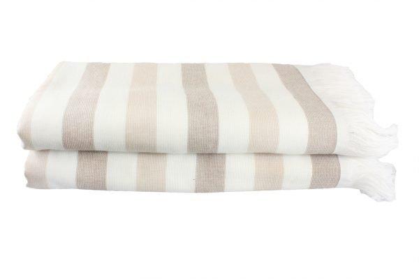 купить Пляжное полотенце STRIPE 70x140см бежевое Турция (IZ-8698499315709)