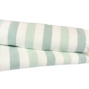 Пляжное полотенце STRIPE 70×140см зеленое