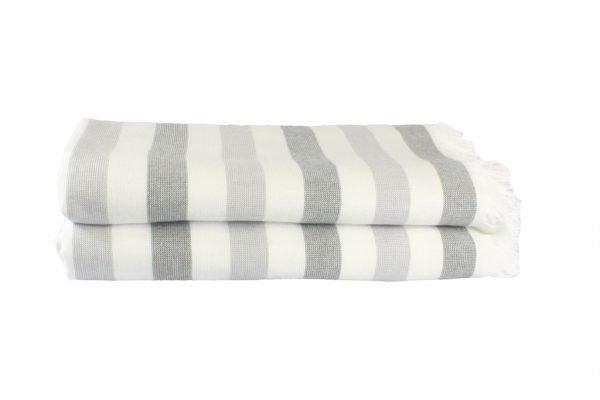 купить Пляжное полотенце STRIPE 70x140см серое Турция (IZ-8698499315761)