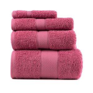 Полотенце ТМ Arya Однотонное Miranda Soft Розовый 2 70×140