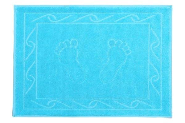 купить Полотенце для ног Hayal 50x70см голубое Турция (IZ-8693675947613)