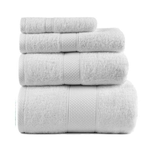 купить Полотенце махровое ТМ Arya Однотонное Miranda Soft Белое Турция (TR1002480-v)