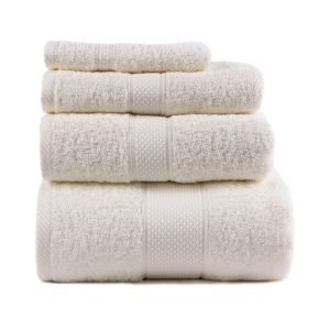 Полотенце махровое ТМ Arya Однотонное Miranda Soft Кремовое