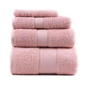 Полотенце махровое ТМ Arya Однотонное Miranda Soft Розовое