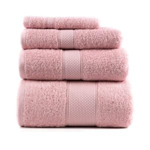 купить Полотенце махровое ТМ Arya Однотонное Miranda Soft Розовое Турция (TR1002480-3-v)