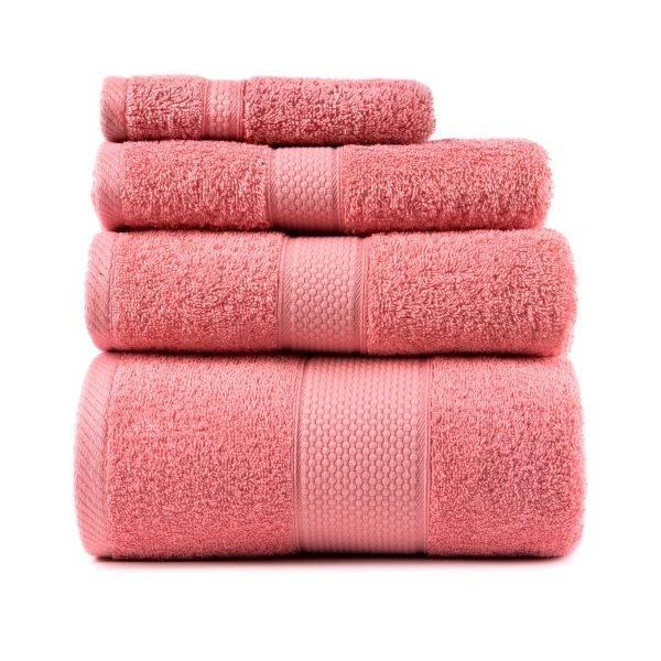 купить Полотенце махровое ТМ Arya Однотонное Miranda Soft Роз Турция (TRK111000017463-8-v)