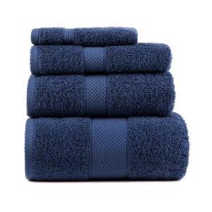 Полотенце махровое ТМ Arya Однотонное Miranda Soft Синее