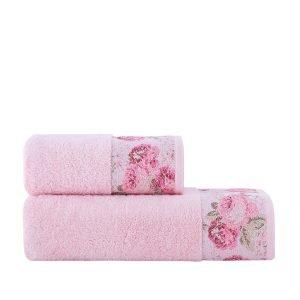 Полотенце махровое ТМ Arya Desima Розовое
