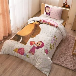 Детское подростковое постельное белье ТМ TAC Маша и Медведь 160×220
