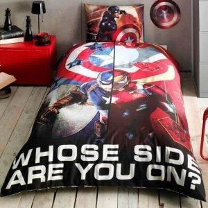 Детское подростковое постельное белье ТМ TAC Disney Captain America Movie 160×220
