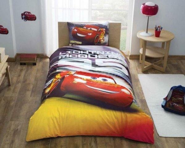 купить Детское подростковое постельное белье ТМ TAC Disney Cars Lightning Mcqueen Детское